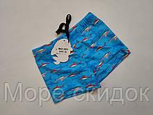 Шорты-плавки детские 351 Дельфин голубой (В НАЛИЧИИ ТОЛЬКО  30 32 34 36 38  размеры)
