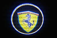 Подсветка дверей авто / лазерная проeкция логотипа Ferrari | Феррари