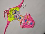 Купальник для девочек  FUBA 7009-2 желтый (в наличии  28 30 32 34 36 размеры), фото 2