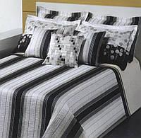 Покрывало с наволочкакми на кровать REVERT 200x270 Theos gris