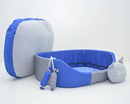 Лежак для собак и котов Комфорт лето 320х430х125 №1  синий, фото 2