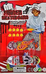 Набор Фингерборд 3в1 пальчиковый скейт самокат fingerboard