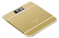 Напольные электронные весы (бытовые) Iscale золотистые + датчик температуры 4 цвета 180кг