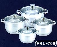 Набор кастрюль FRICO FRU-709, 8 предметов (2.0, 3.0, 4.0, 7.5 л.), доставка из Киева
