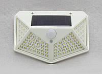 Настенный солнечный светильник. 100LED SMD, 3 режима. БЕЛЫЙ