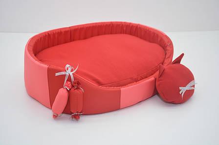 Лежак для собак і котів Комфорт літо 375х495х130 №2 червоний, фото 2