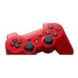 Джойстик контроллер геймпад для Sony PlayStation 3 DualShock Беспроводной ps3 bluetooth пс3 красны ( Реплика ), фото 3