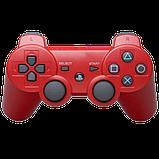 Джойстик контроллер геймпад для Sony PlayStation 3 DualShock Беспроводной ps3 bluetooth пс3 красны ( Реплика ), фото 5