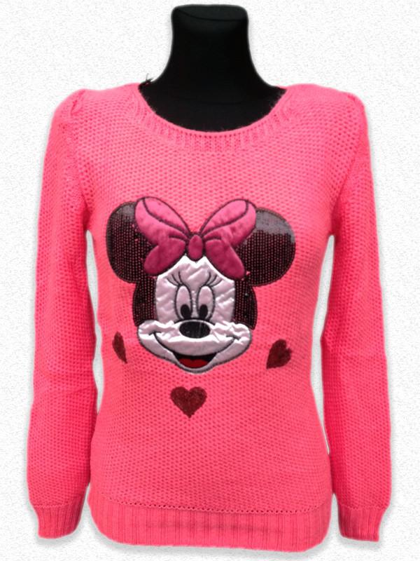 7120bbf9 Модная вязанная кофта с длинным рукавом Микки Маус - Оптово-розничный  магазин одежды