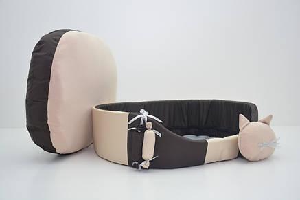 Лежак для собак і котів Комфорт літо 580х820х160 №7 коричневий, фото 2