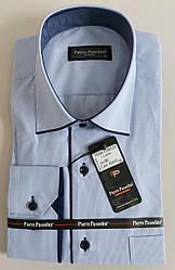 Мужская классическая рубашка «Pierre Passolini» в мелкую клетку