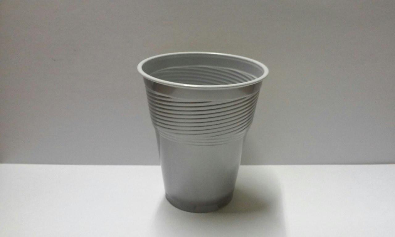 Стакан Huhtamaki пластик 150 мл (серебристый indi)