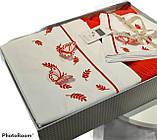 Комплект Сатинового Постільну Білизни З В'язаним Покривалом-Пледом Євро Розмір Туреччина ELITA Новинка, фото 2