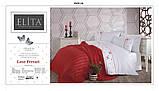 Комплект Сатинового Постільну Білизни З В'язаним Покривалом-Пледом Євро Розмір Туреччина ELITA Новинка, фото 3