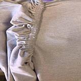Комплект Постельного Белья С Простыню На Резинке Вафельным Покрывалом - Пледом Турция MODALITA Серый, фото 2