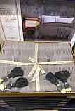 Хлопковое Вязанное Покрывало Простынь Плед с Кисточками 220*240 см Серое Турция Elita Новинка, фото 2