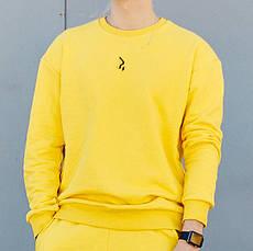 Світшот чоловічий Гармата Вогонь Mate жовтий