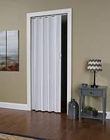 Двері-гармошка глуха. Колір: Ясень білий №1 2030мм/810мм/6мм