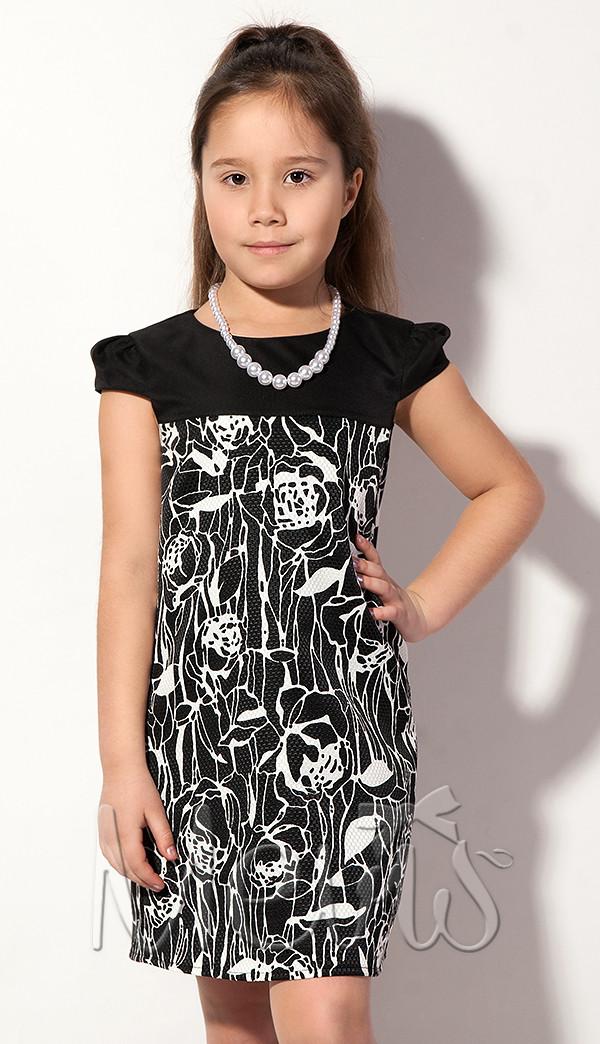 Детское платье для девочки с бусами