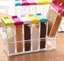 Кухонні підставка з шістьма ємностями для спецій Seasoning six piece set