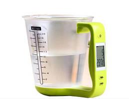 Цифрові кухонні ваги до 1 кг мірна чашка