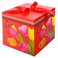"Коробка ""Тюльпаны"" 22*22*22СМ"