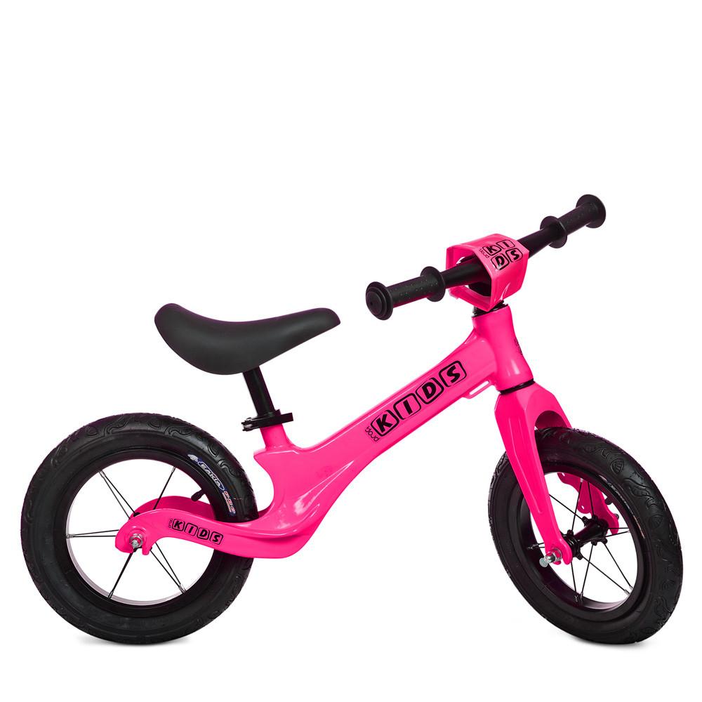 Беговел Profi Kids надувні колеса на 12 дюймів Рожевий