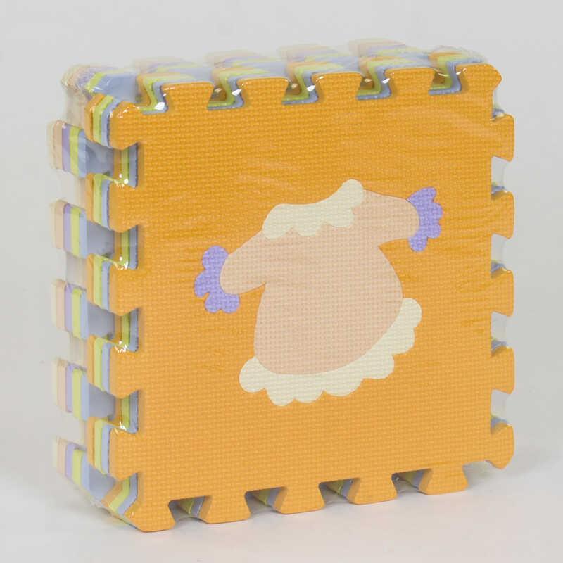 """Килимок-пазл EVA """"Предмети"""" НК 026 (24) TK Group, масажний, 9шт в упаковці, 30х30 см"""