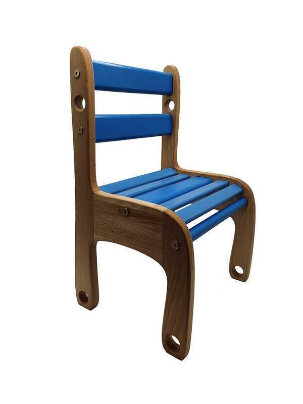 """Гр Стільчик дерев`яний """"Вудік колор"""" 04-04B (1) колір синій"""
