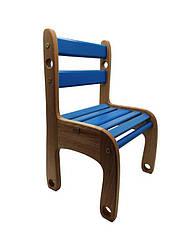 """Гр Стільчик дерев'яна п'яний """"Вудік колор"""" 04-04B (1) колір синій"""