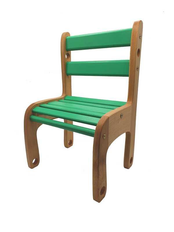 """Гр Стільчик дерев'яна п'яний """"Вудік колор"""" 04-04G (1) колір зелений"""