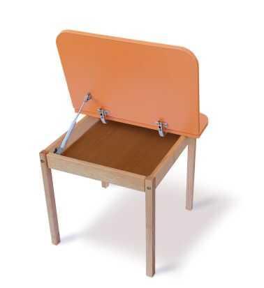 """Гр Столик """"Colorbox"""" 04-20-ORANG (1) колір Оранжевий, стільниця ДСП, каркас - дерево бук"""