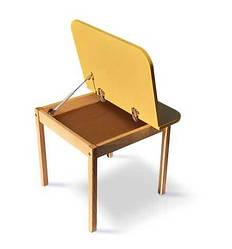"""Гр Столик """"Colorbox"""" 04-20-YELLOW (1) колір Жовтий, стільниця ДСП, каркас - дерево бук"""