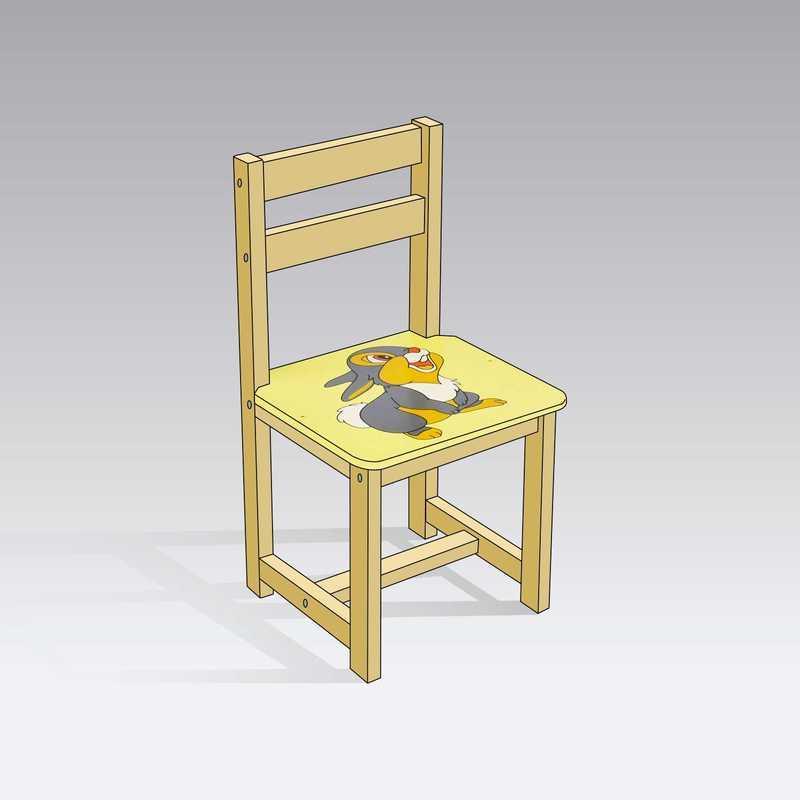 """Гр Стілець """"Зайчик"""" 4041 (1) колір жовтий, """"МАСЯ"""""""
