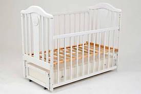"""Гр Дитяче ліжечко поздовжній маятник, """"Наполеон Нью"""" (1) Колір білий"""