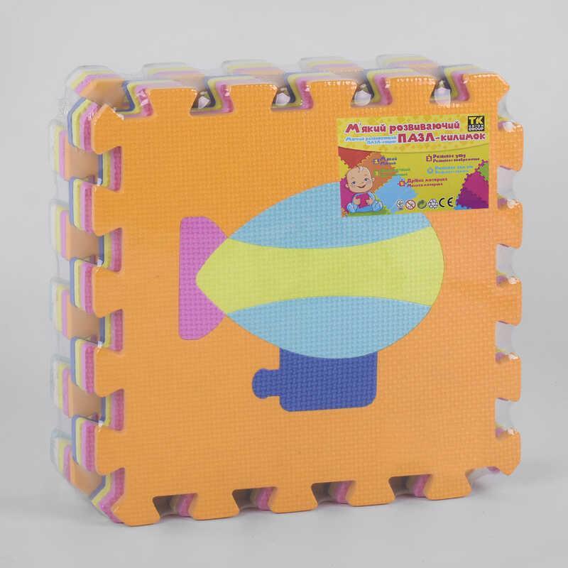 """Коврик-пазл ТК 41404 (24) """"TK Group"""", массажный, 9шт в упаковке, 30х30 см"""