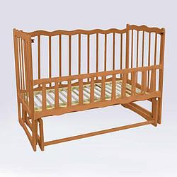 """Гр Ліжечко деревян. маятник - відкидний борт """"Хвиля"""" (1) вільха - колір світло-коричневий"""