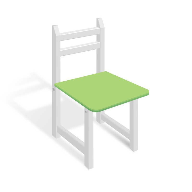 Гр Стільчик СЦ 006 колір біло-зелений, 32см