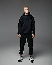 Теплий спортивний костюм оверсайз Гармата Вогонь Scale чорний