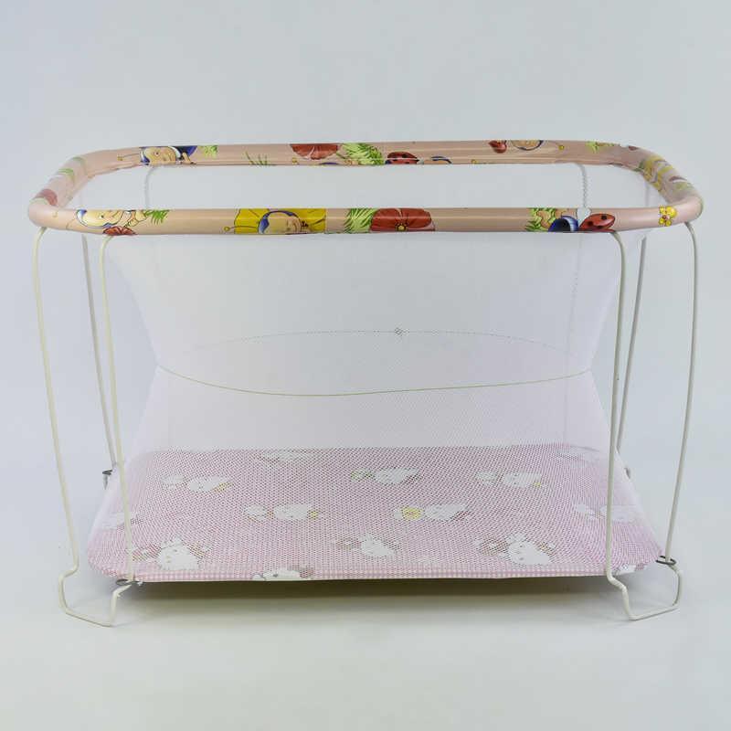 """Гр Манеж євро №10 """"Hello Kitty"""" колір рожевий (1) прямокутний, м'яке дно, євро сітка"""