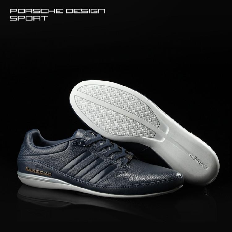 767d2308af71 Мужские кожаные кроссовки Adidas Porsche Design TYP 64 2.0 в наличии, синие.