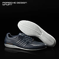 Мужские кожаные кроссовки Adidas Porsche Design TYP 64 2.0 в наличии, синие. Размер 41-45