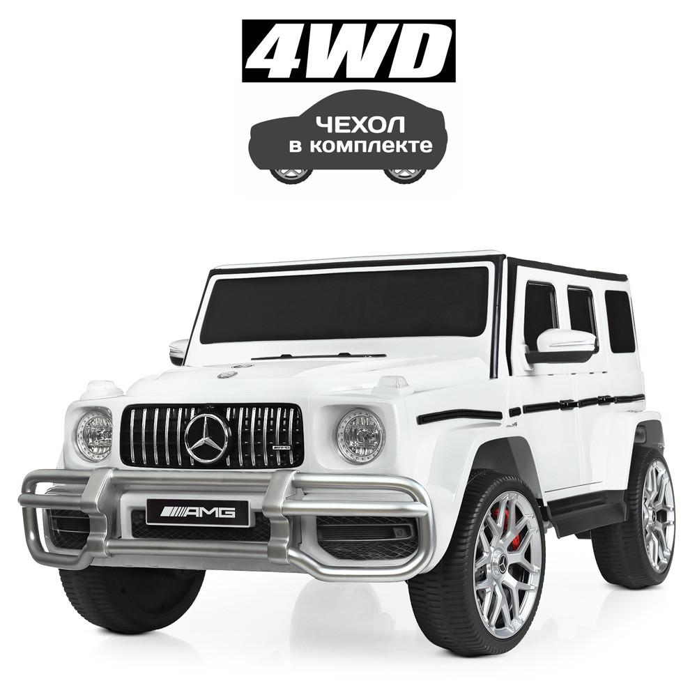Детский электромобиль Джип Mercedes Мерседес Гелентваген M 4259 Белый
