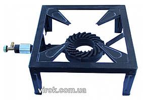 Плита газовая одноконфорочная переносная с краном на четырех ножках VIROK давление газа 2/37 мбар 544 г/ч 7.5