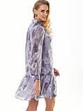 Шифонове плаття з принтом і воланом по низу, фото 10