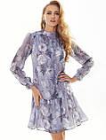 Шифонове плаття з принтом і воланом по низу, фото 7