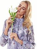 Шифонове плаття з принтом і воланом по низу, фото 8