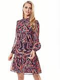 Шифонове плаття з принтом і воланом по низу, фото 2