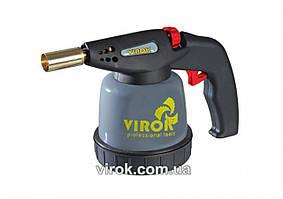 Газовая паяльная лампа с пьезоподжигом TM VIROK под баллон 190 г