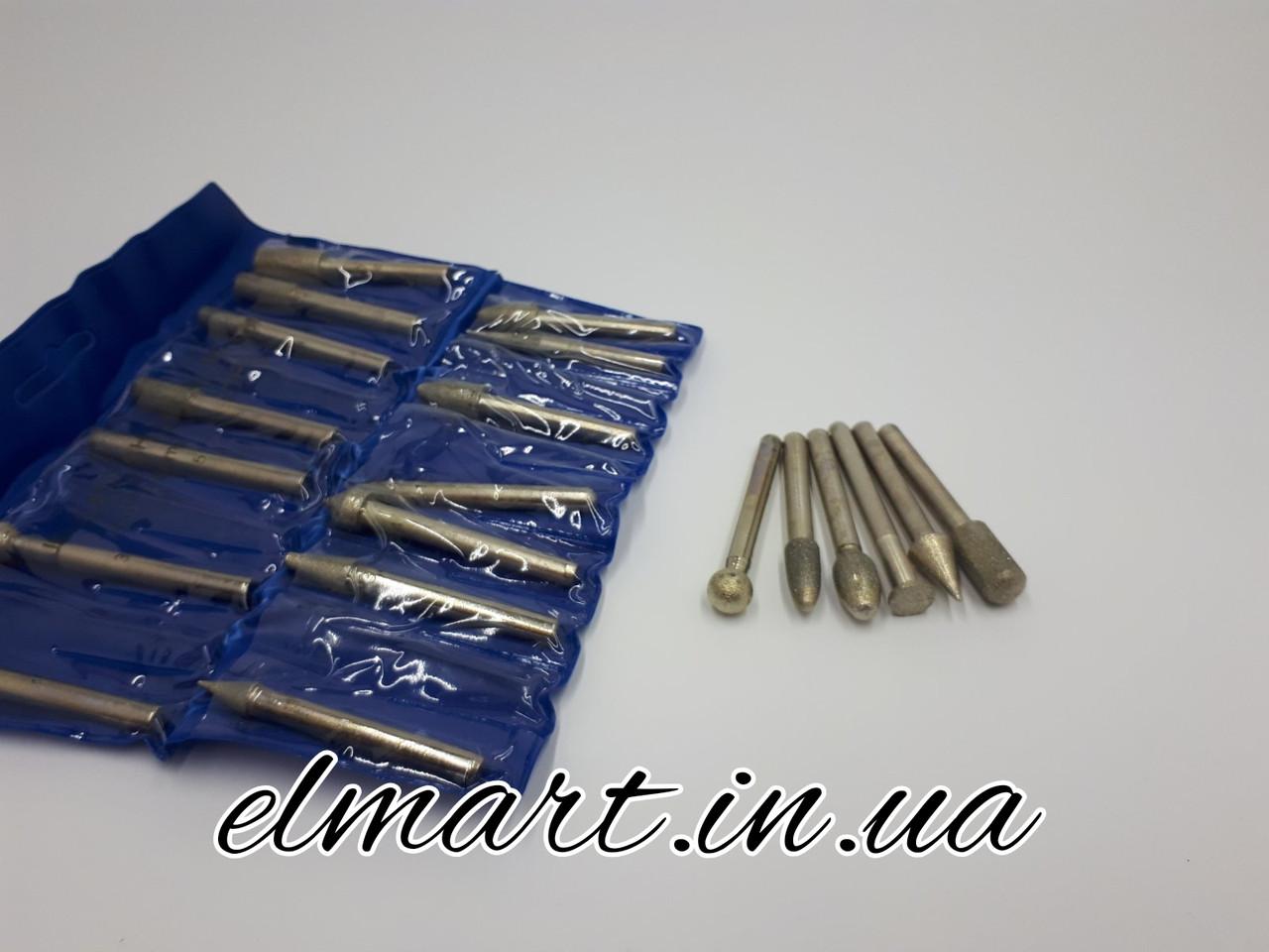 Набір буров алмазних, середньої зернистості з 20 штук